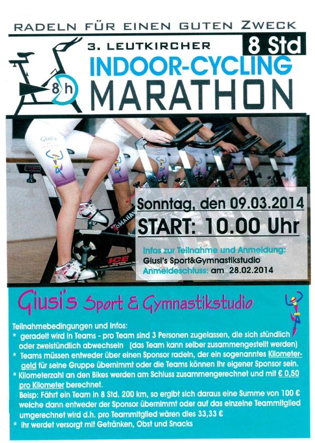 3. Leutkircher INDOOR-CYCLING-MARATHON